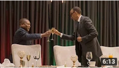 President Kagame hosts a State Banquet in honour of President Filipe Nyusi of Mozambique